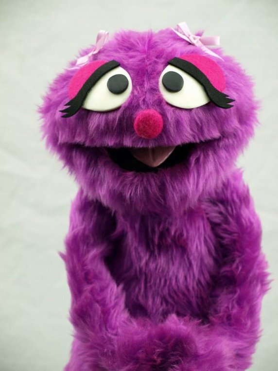 Muppet Professional Puppet Penelope Monster in Purple