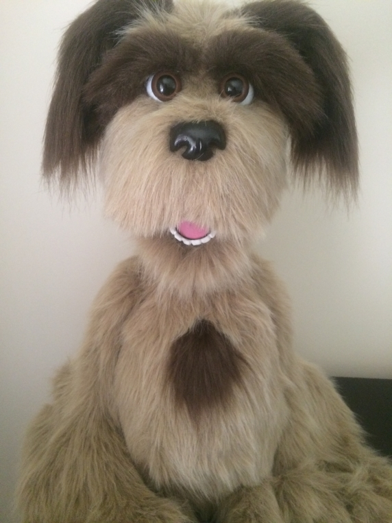 Custom Made Professional Dog Puppet / muppet with Live Hands & blinking eyes  Th