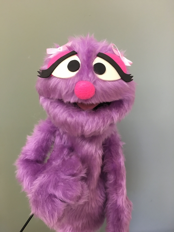 Muppet Professional Puppet Penelope Monster in Lavender