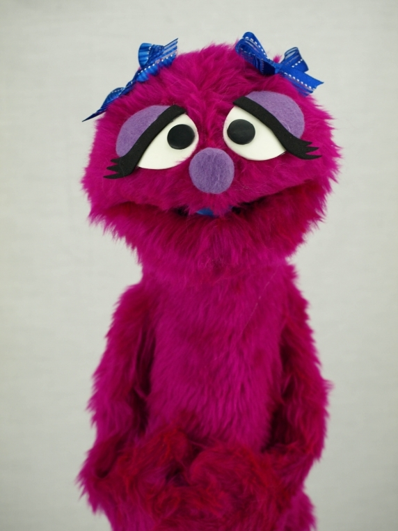 Muppet Professional Puppet Penelope Monster in Magenta