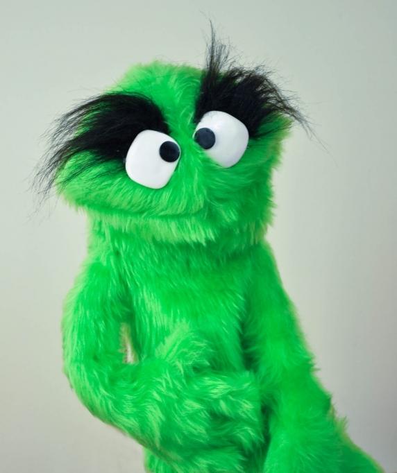 Muppet Muppet Professional Puppet PJ Monster - Green