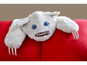Monster Taxidermy, Monster Pelt Faux Fur Home decor throw rug