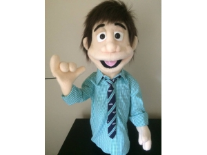 Young Teenager Puppet Professional Rod Puppet
