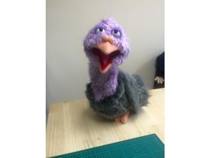 Pigeon Hand Puppet with Removable Rod Controlled Wings