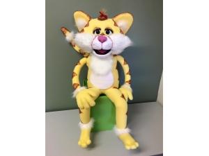 Custom Professional Yellow Cat Rod Puppet