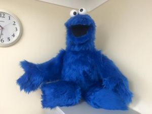 Cookie Monster Puppet built for own collection