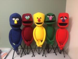 Set of 5 shape head puppets