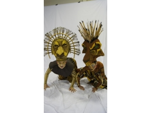 Lion King he Musical Scar and Mufasa Headdress  by The Puppet workshop