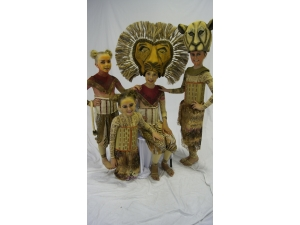 Lion King he Musical  Simba and Nala Headdress  by The Puppet workshop