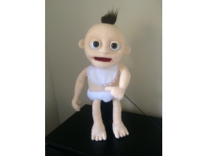 Baby Puppet with custom nappy and bib