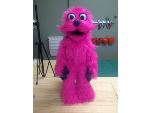 Custom Furry Moustache Monster Rod Puppet