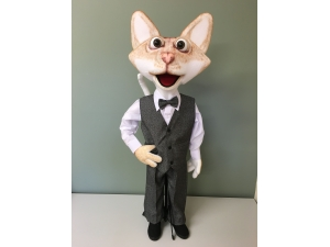 Singapura Cat Full Body Rod Puppet