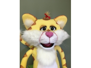 Custom Professional Yellow Cat Rod Puppet