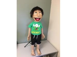 Custom Hawaiian Native Boy Caricature Puppet