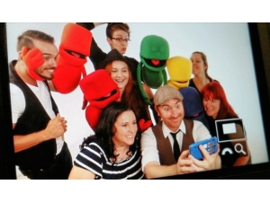 Fun in the Studio Pic of The Mighty Littles Crew and me