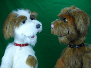 Professional live hand Dog Puppet / Muppet Rufus and Chester